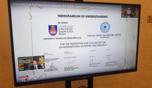 Virtual MoU Signing Ceremony between UiTM and Sekolah Tinggi Ilmu Ekonomi, Ekuitas, Indonesia