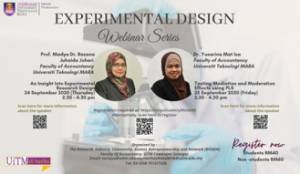 Experimental Design Webinar series